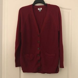 Old Navy maroon red button down cardigan XL